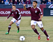 Denver Sports Photographer, Colorado Rapids Andre Akpan and Wells Thompson